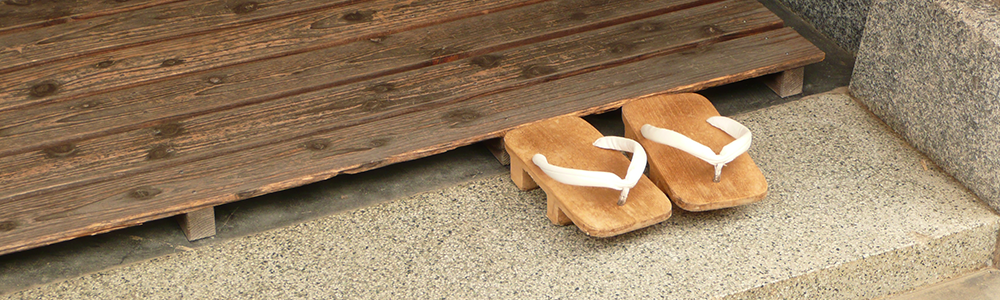 Photo de geta, chaussure traditionnelle Japonaises.