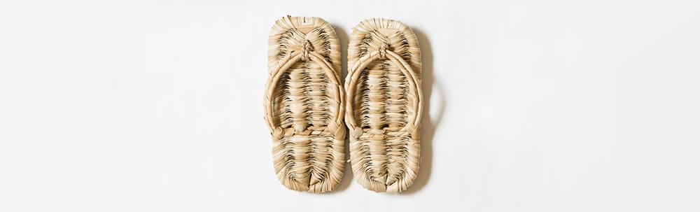 photo de zori, chaussures traditionnelles Japonaises.